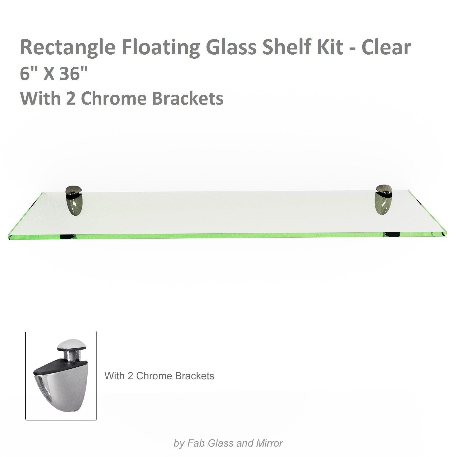 rectangle floating glass shelf kit inch thick tempered with many sizes and colors free shipping orders over black kitchen shelves ikea vinyl record storage metal wood island