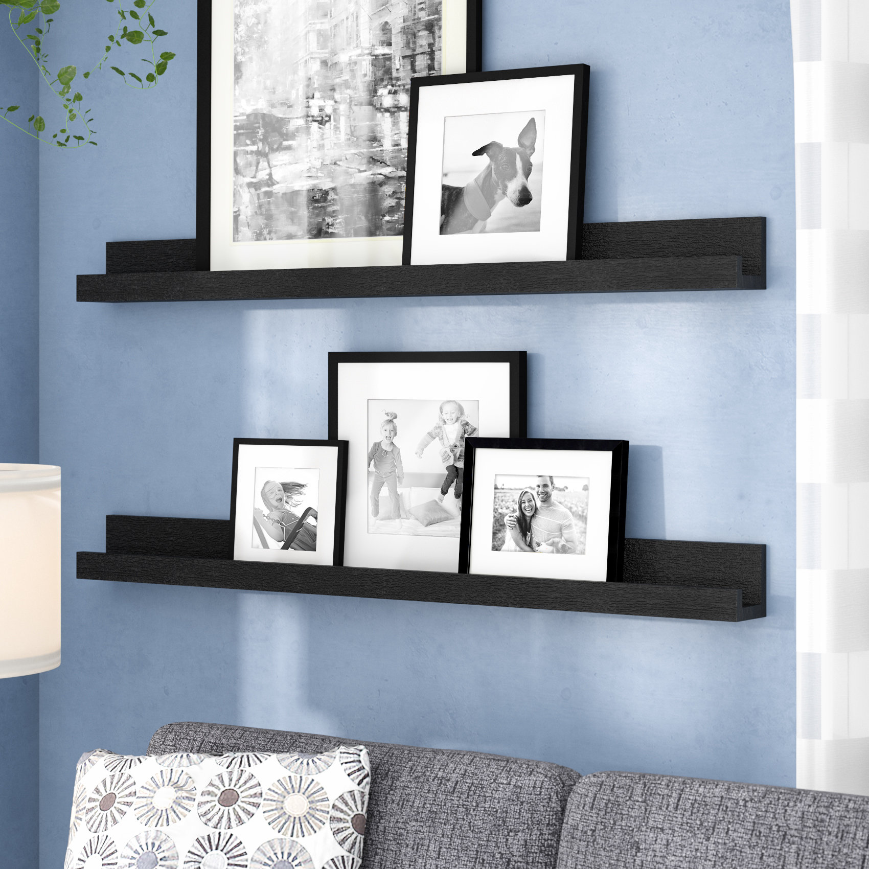 red barrel studio dulin ledge ture display floating shelf shelves for frames reviews chimney brush bedroom furniture interesting ideas industrial style shelving inch wide heavy