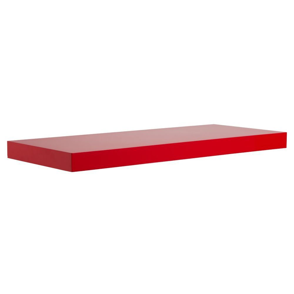 red floating shelves ikea bench hack inch white wall shelf desk with storage coat rack ideas closet depth marble top kitchen island seating mini hall tree plastic utility canadian