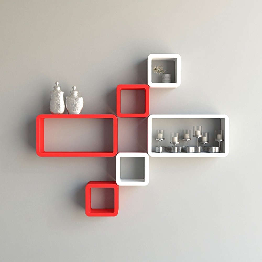 red wall shelves webfaceconsult white cube ectangle wal for cubes rectangular floating shelf set rectangle and wardrobe storage closet over desk cabinets laying self adhesive