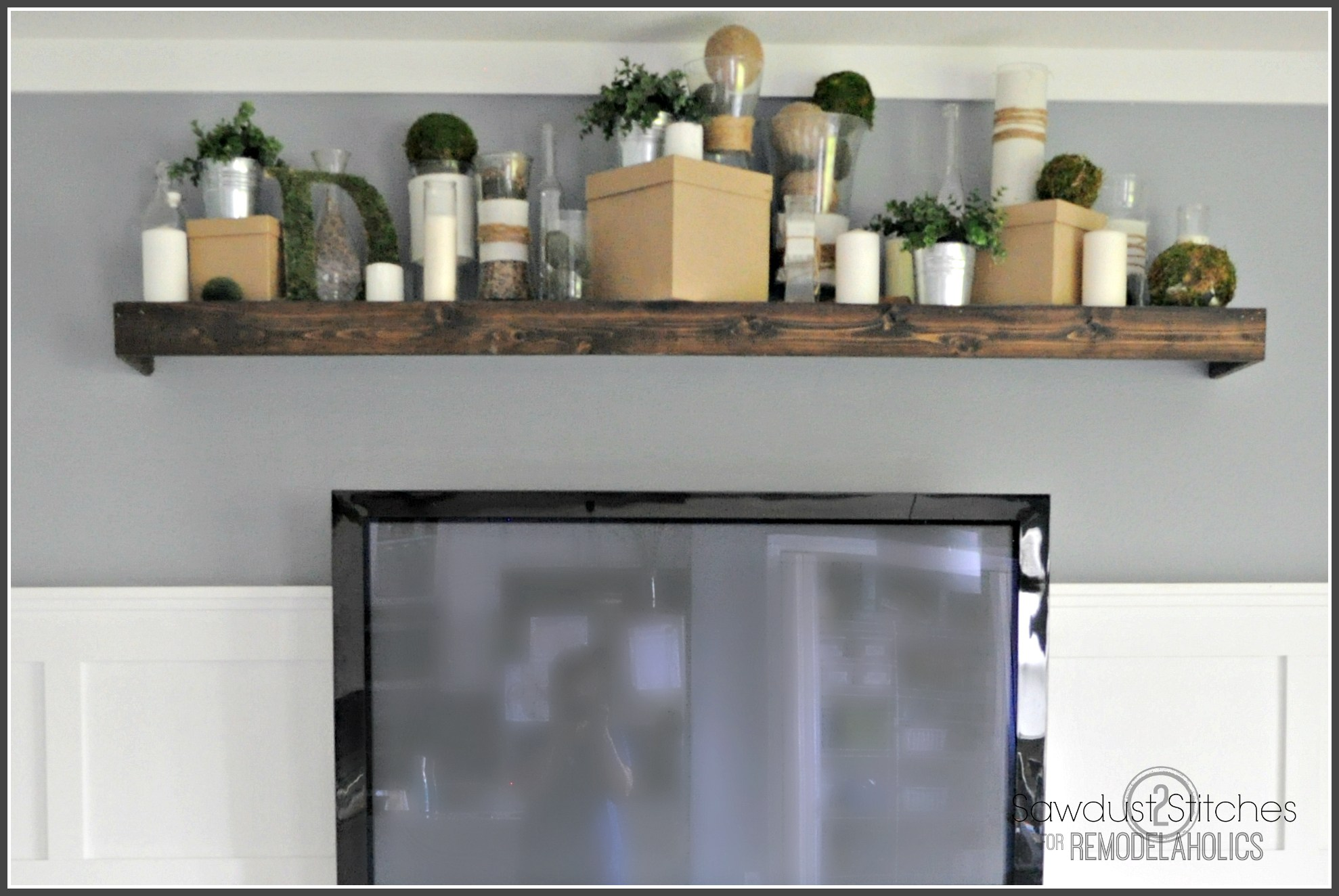 remodelaholic turn ikea shelf into pottery barn ledge finale floating shelves installation instructions wall hung unit bathroom rack over toilet space between kitchen cabinets