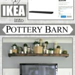 remodelaholic turn ikea shelf into pottery barn ledge makeover floating brackets easily knock off ikeahack hanging shelves granite deep closet organizer kitchen island with 150x150
