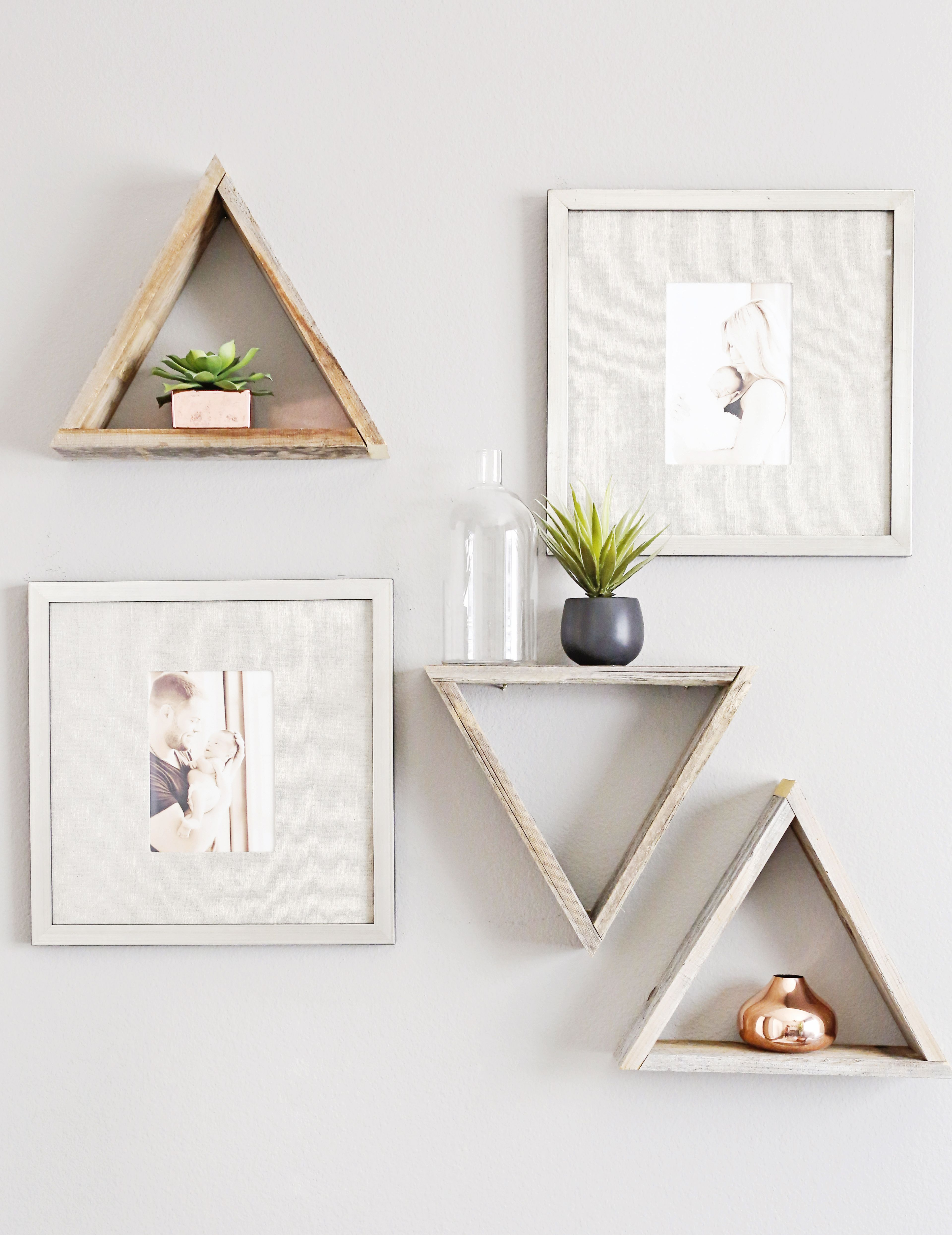 rose gold nursery decor wall ideas floating shelves modern triangle with trendy accents dewalt impact driver set home glass mini shelf breakfast bar support bracket gloss wood diy