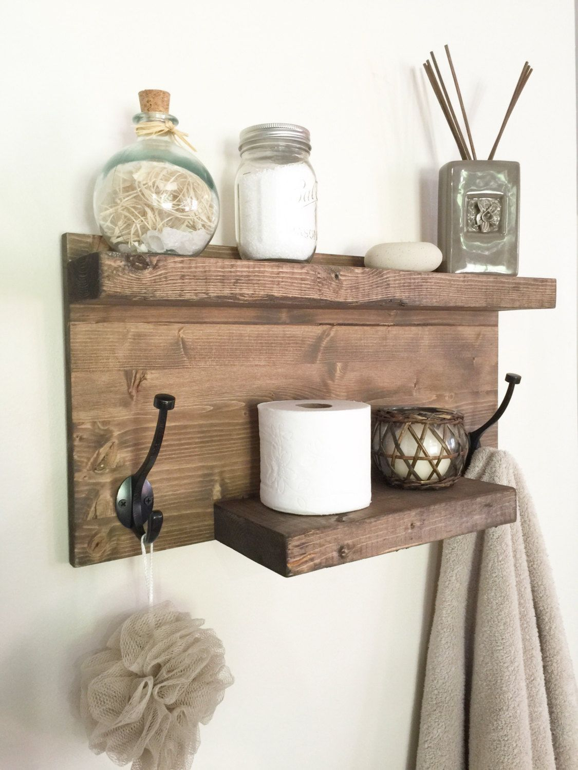 rustic bathroom shelf wood towel rack entryway floating shelves for towels farmhouse decor with hooks custom glass unique shoe storage fire mantle piece command coat hanger modern