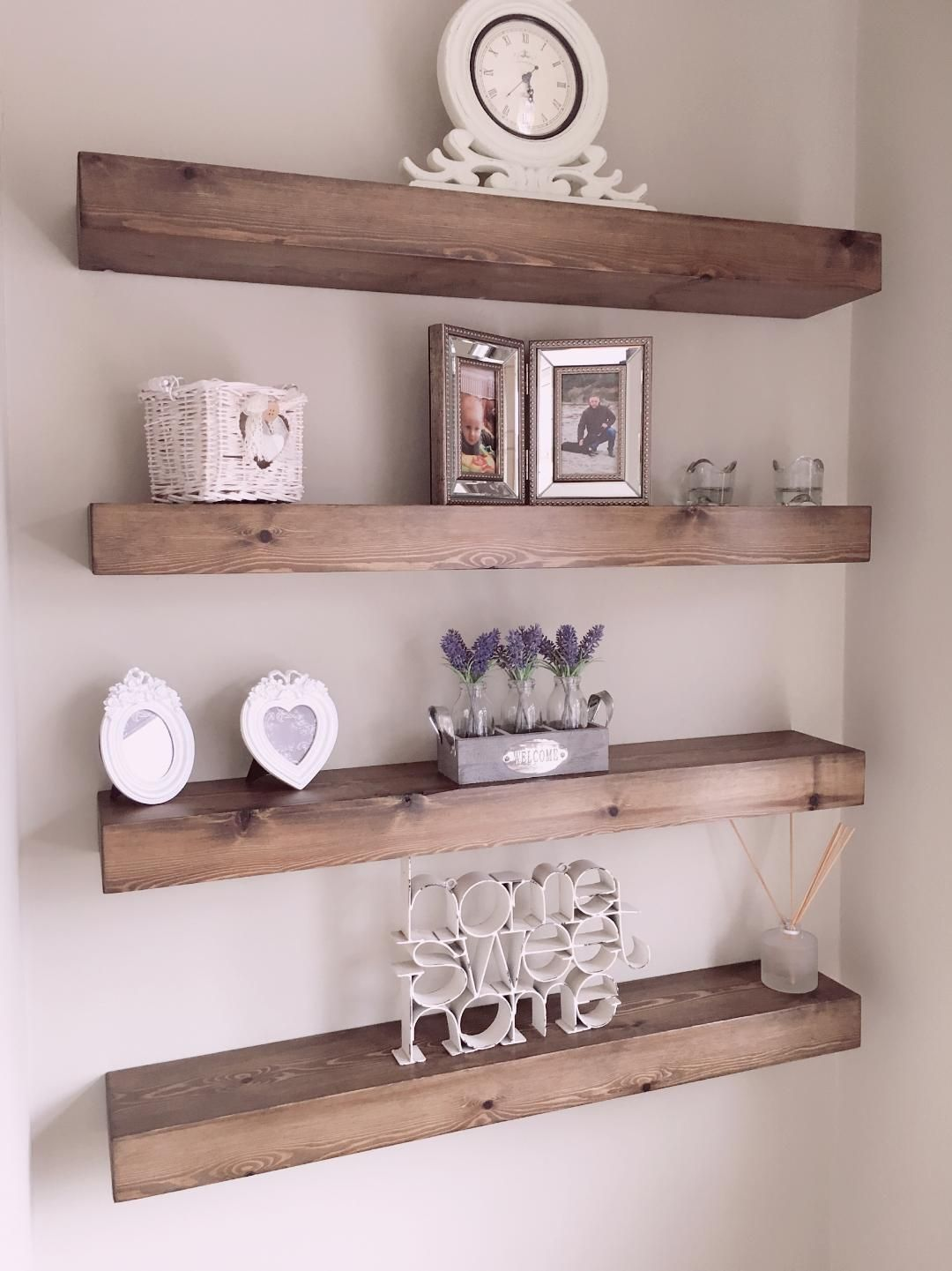 rustic chunky floating shelves finished jacobean available shelf with drawer bellerustiquework start from can purchased set coat rack cubby home loft concept zebra print bean bag
