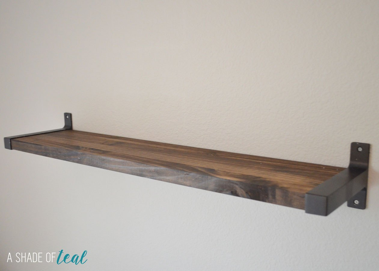 rustic diy bookshelf with ikea ekby brackets floating shelves and mitre ten shelving portable units kitchen unit storage solutions foot laminate countertop ideas wooden corner