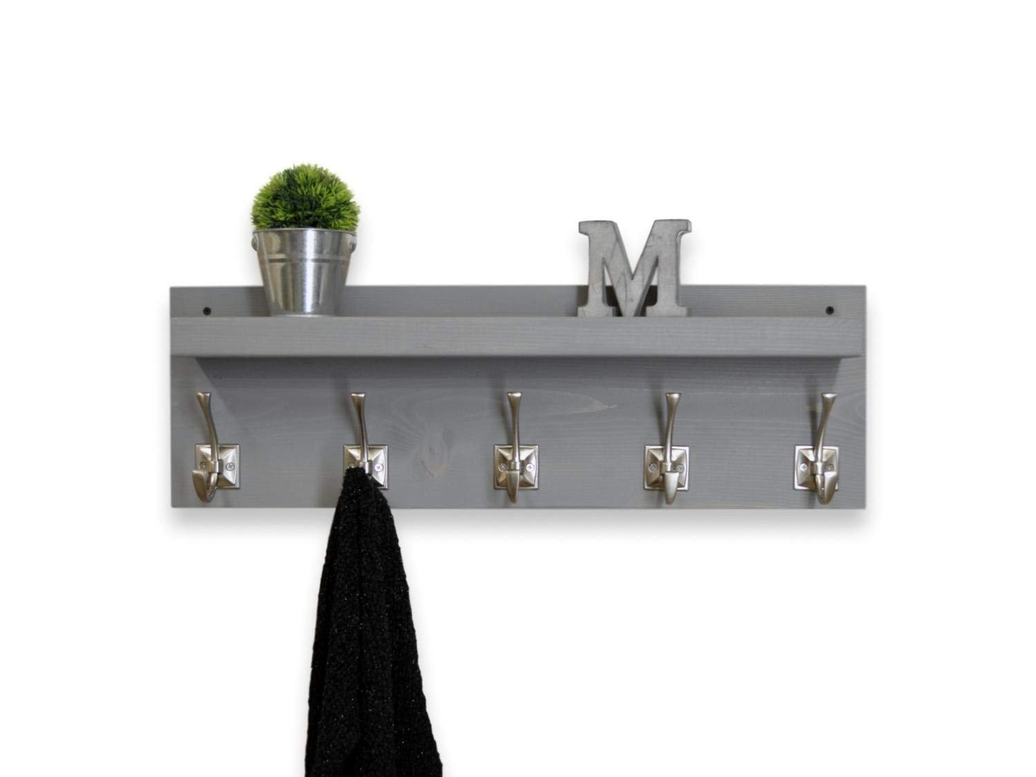 rustic floating shelf coat rack hooks weathered gray handmade office wall cupboards for garage brass shower fixtures ikea desk ideas small toilet room large storage shelves glass