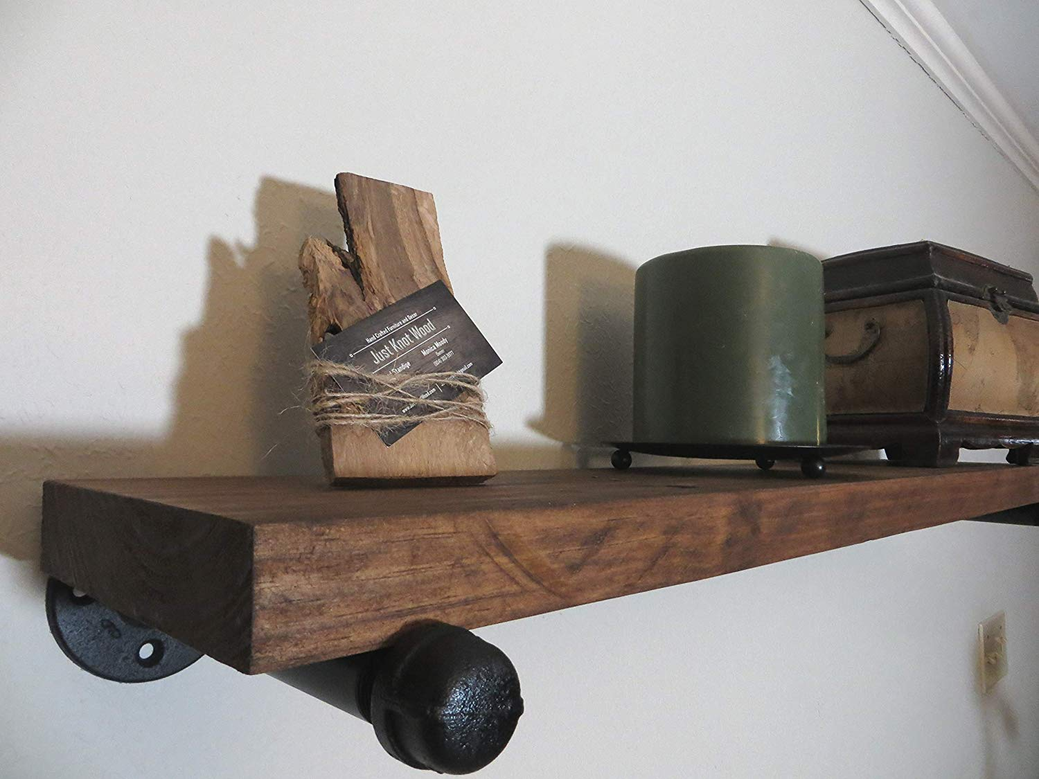 rustic floating shelf with brackets many sizes and wood shelves colors available handmade dvd player wall mount bracket single bathroom vanity small peel stick tile over concrete