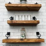 rustic industrial handmade floating shelves shelf solid wood excited share the latest addition etsy wall mounted storage solutions extra wide standing coat and hat rack open 150x150