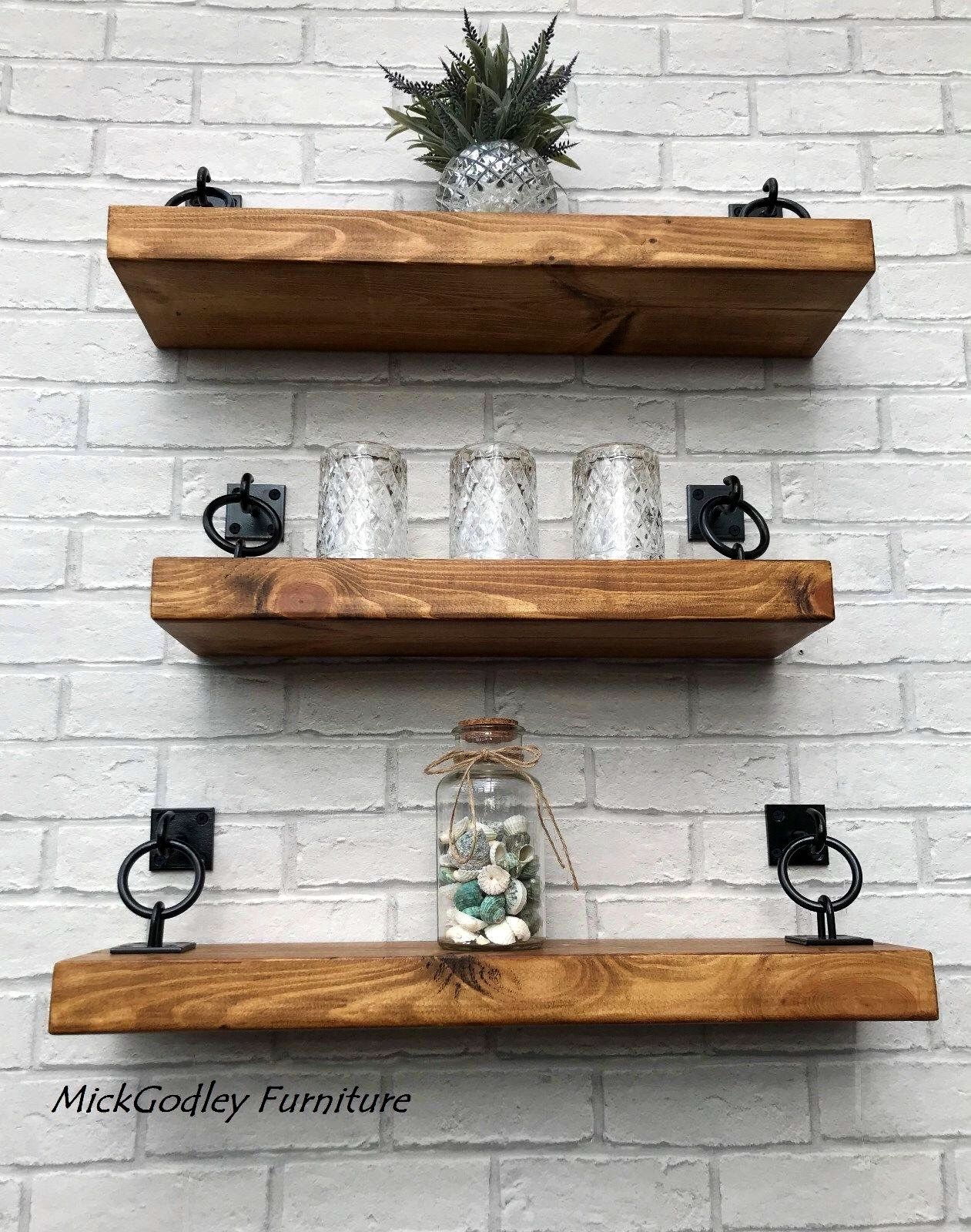 rustic industrial handmade floating shelves shelf solid wood excited share the latest addition etsy wall mounted storage solutions extra wide standing coat and hat rack open