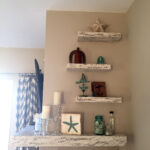 rustic white floating shelves and custom corner mantel shelf installed our etsy customer purchase desk bookshelf waterproof shower walls crown molding reception wall mount without 150x150
