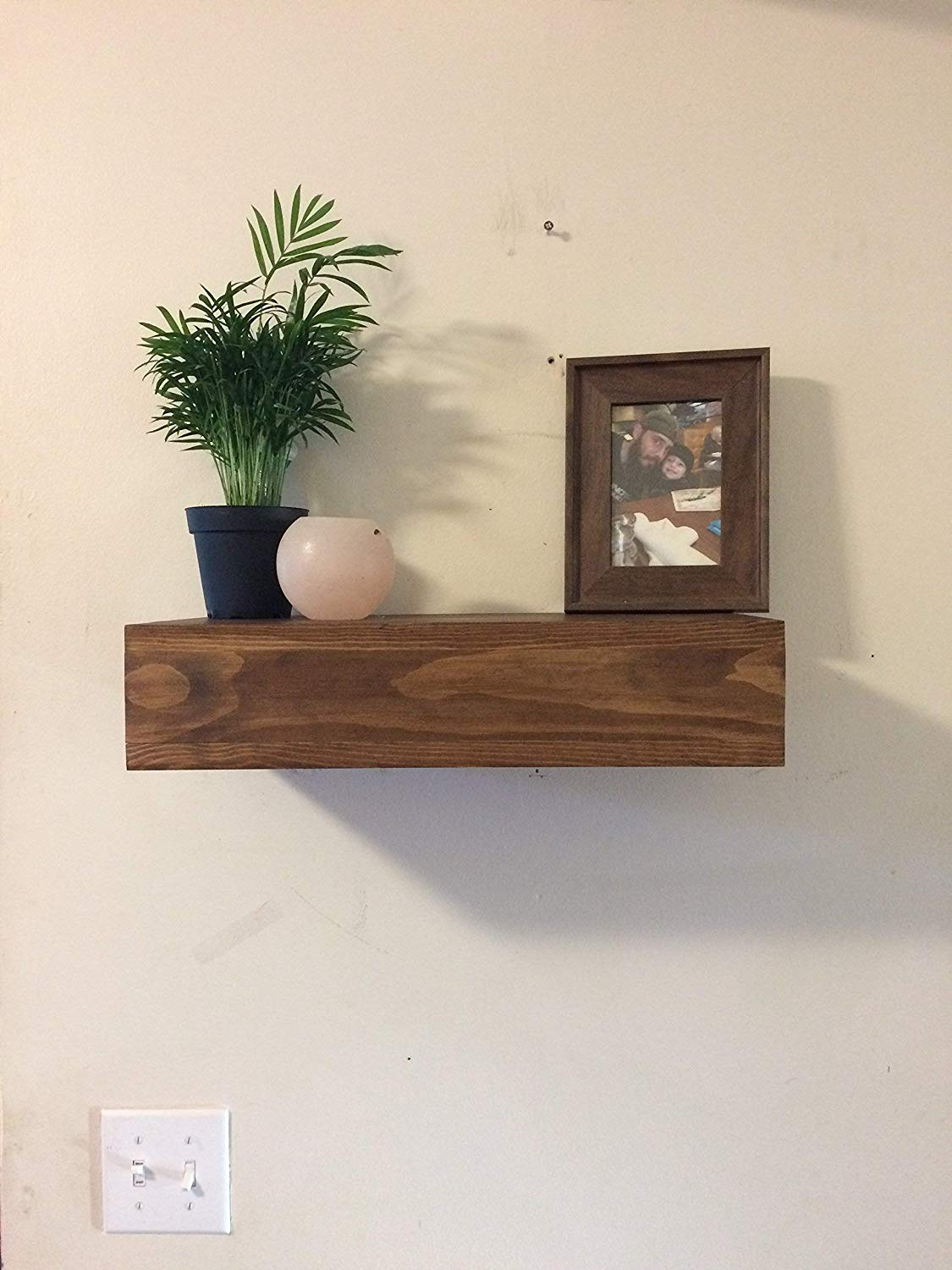 rustic wood floating shelf wooden shelves chunky with drawer wall decor home farmhouse cottage chic handmade coat pegs mounted shoe cupboard loft concept rack cubby threshold