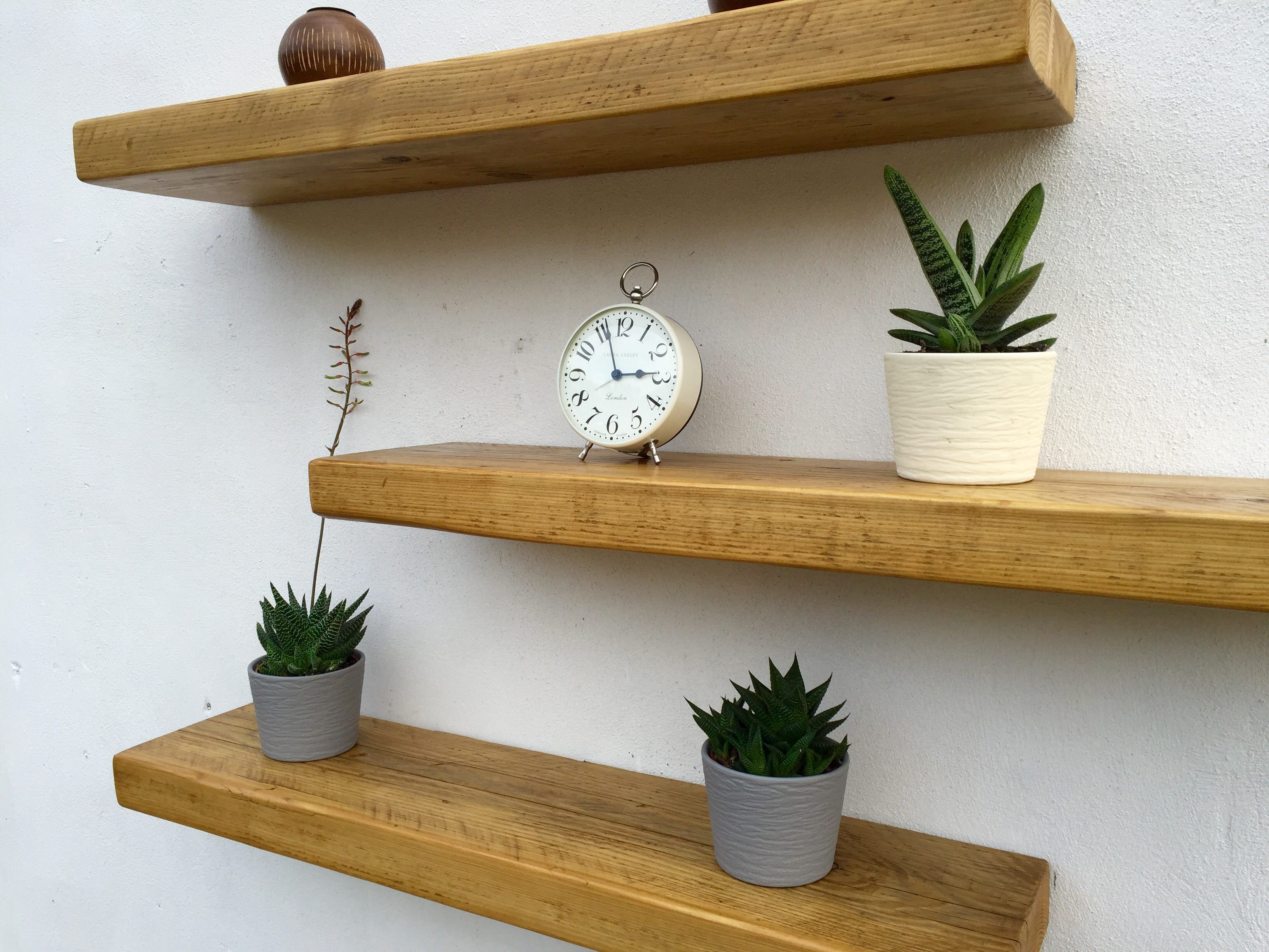 rustic wood floating shelves order great value british pine chunky shelf supplied with brackets fantastic quality handmade love the custom wall shelving unit cast iron decorative