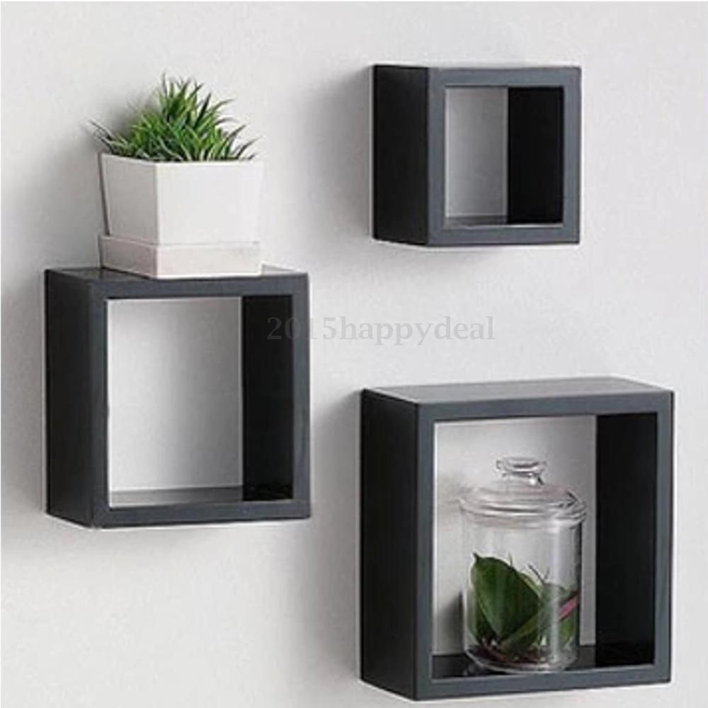 set black retro floating cube shelf square shelves storage wall mounted box nursery best kitchen small entertainment center open big shoe cabinet steam shower bookshelf modern