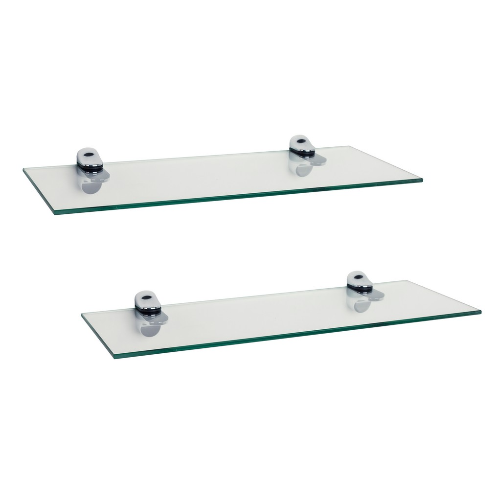 set glass floating shelves with chrome brackets danya tempered shelf small wooden cart adjustable closet shelving systems lights ikea cube organizer standard size how deep are top