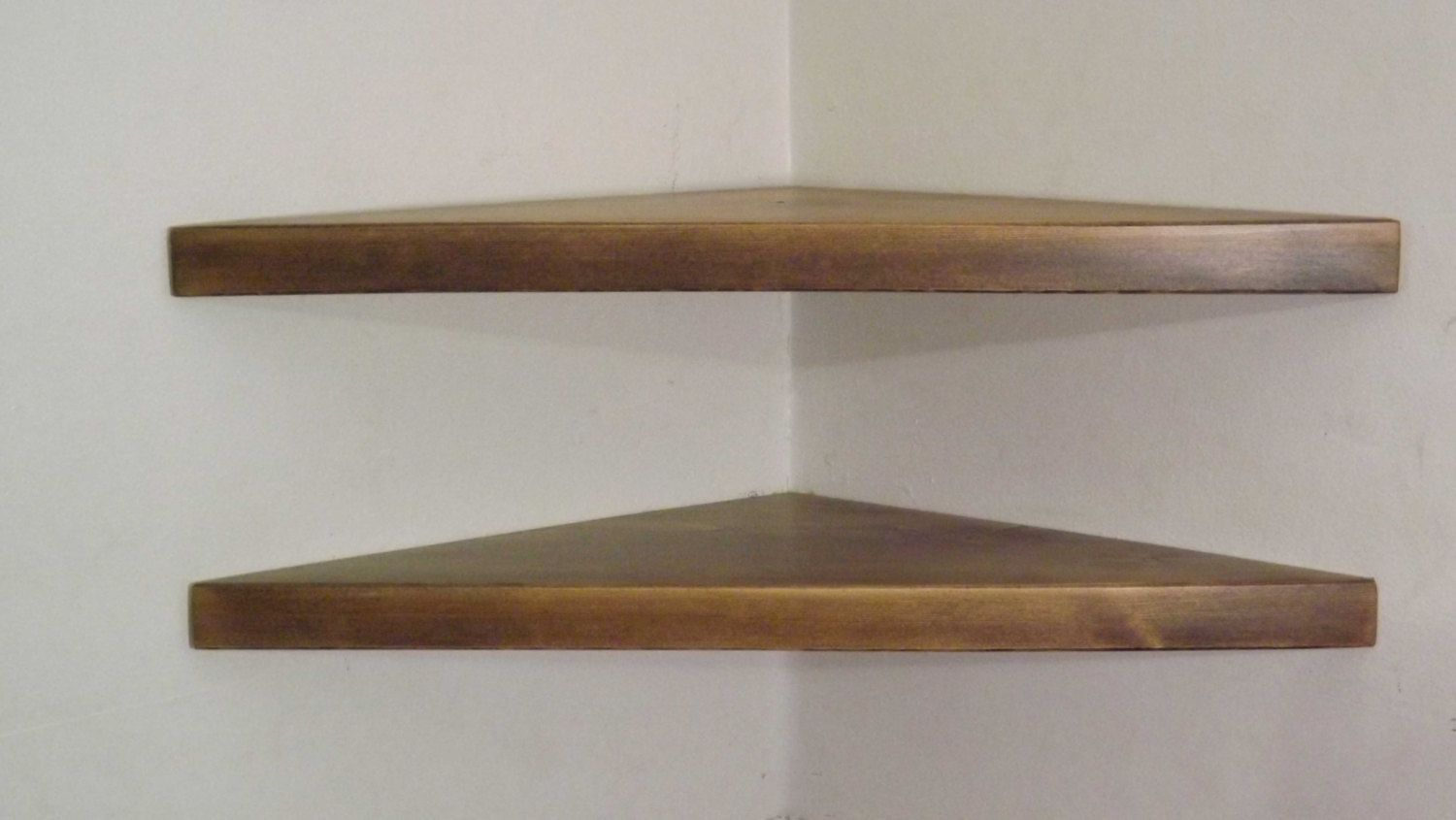 set inch floating corner shelves with ash stain handmade solid oak shelf the usa bawoodworking etsy shelving unit best timber for swivel cable box mdf mantel ikea fittings garage