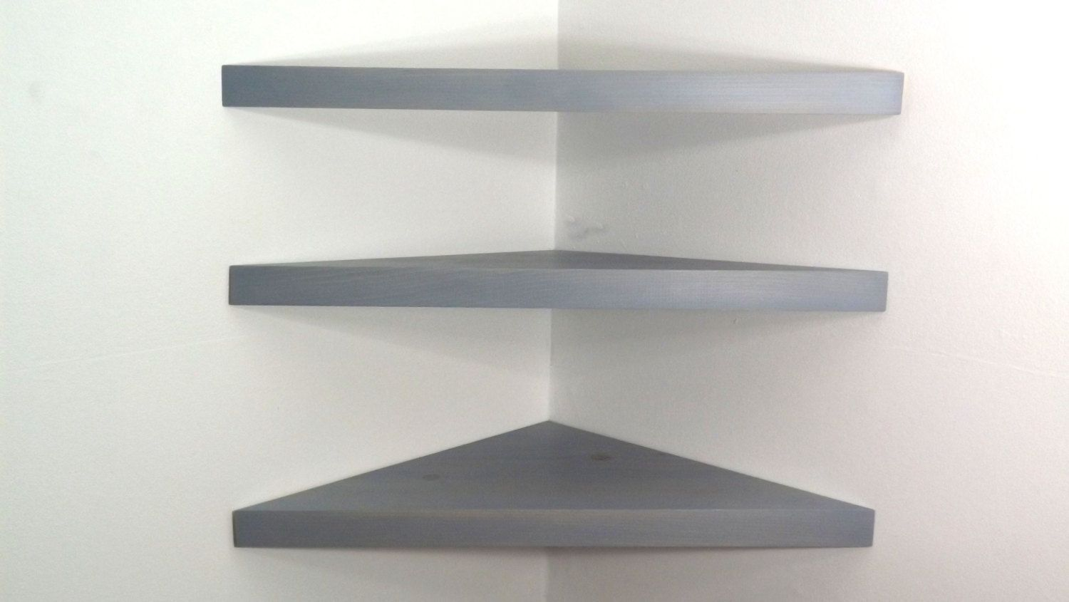 set inch floating corner shelves with pearl grey stain metal shelf handmade the usa bawoodworking etsy prepac bookshelf narrow wall lip small bedroom storage computer cupboard diy