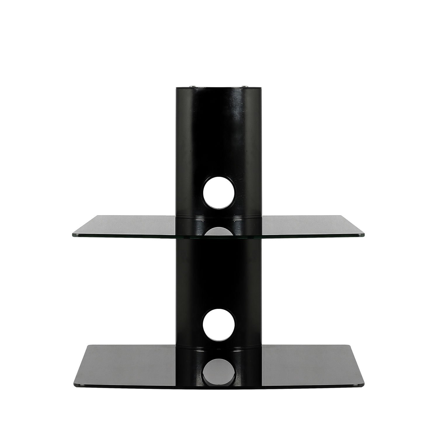 sevenfans floating shelf wall mounted tempered glass shelves for dvd player receiver accessories black tier load capacity kitchen threshold set weathered finish gloss furniture