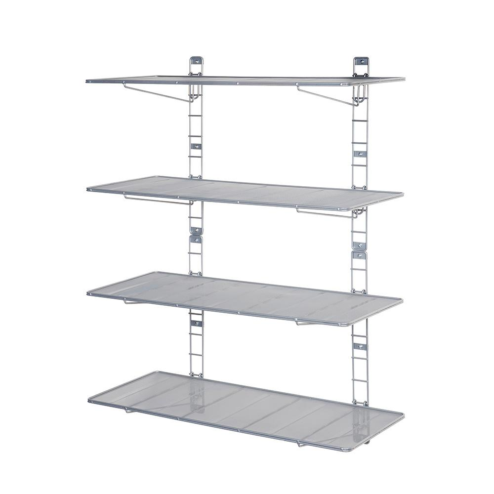 seville classics steel mesh wall mount floating shelves grey garage shelving white metal shelf pieces tool for hall tree and storage bench corner computer desk ikea inch rack