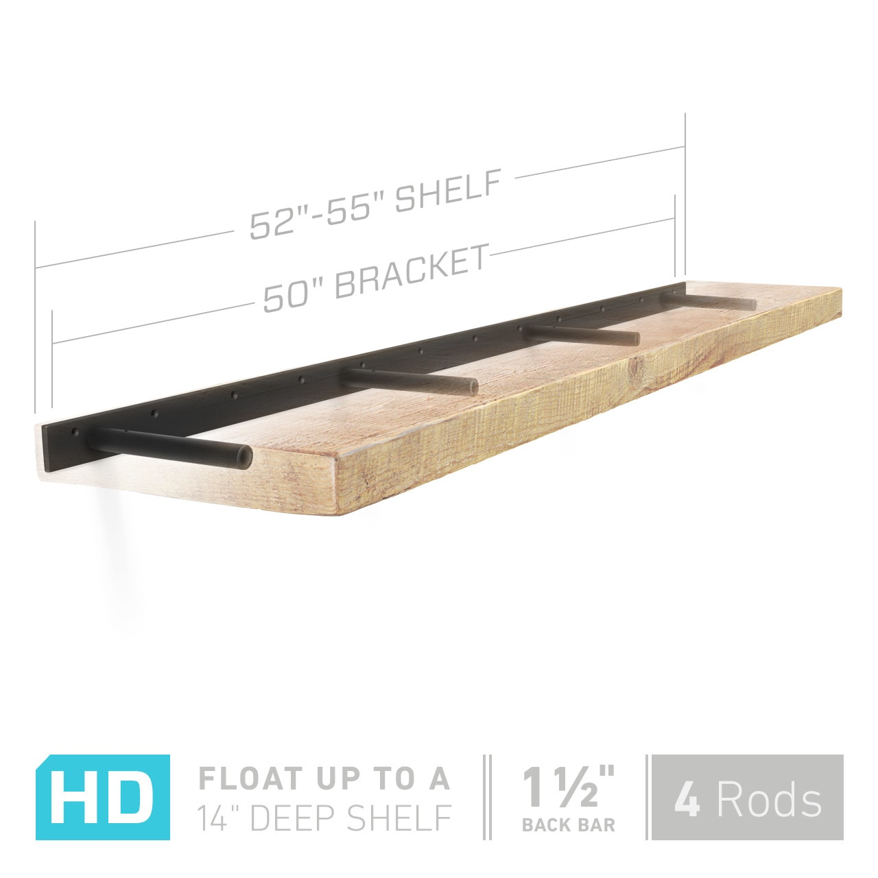 shelfology heavy duty floating shelf bracket fits inch dimensions mantel brackets manufactured that hold real weight use these hidden for your ikea wall hung unit small very