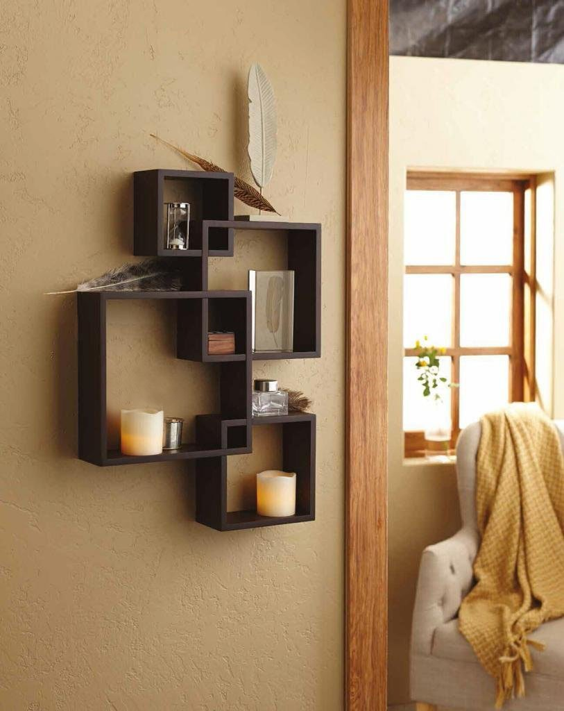 shelving solution intersecting squares floating shelf configurations led candles included espresso home kitchen corner wall for dvd player modern mantelpiece diy projects round
