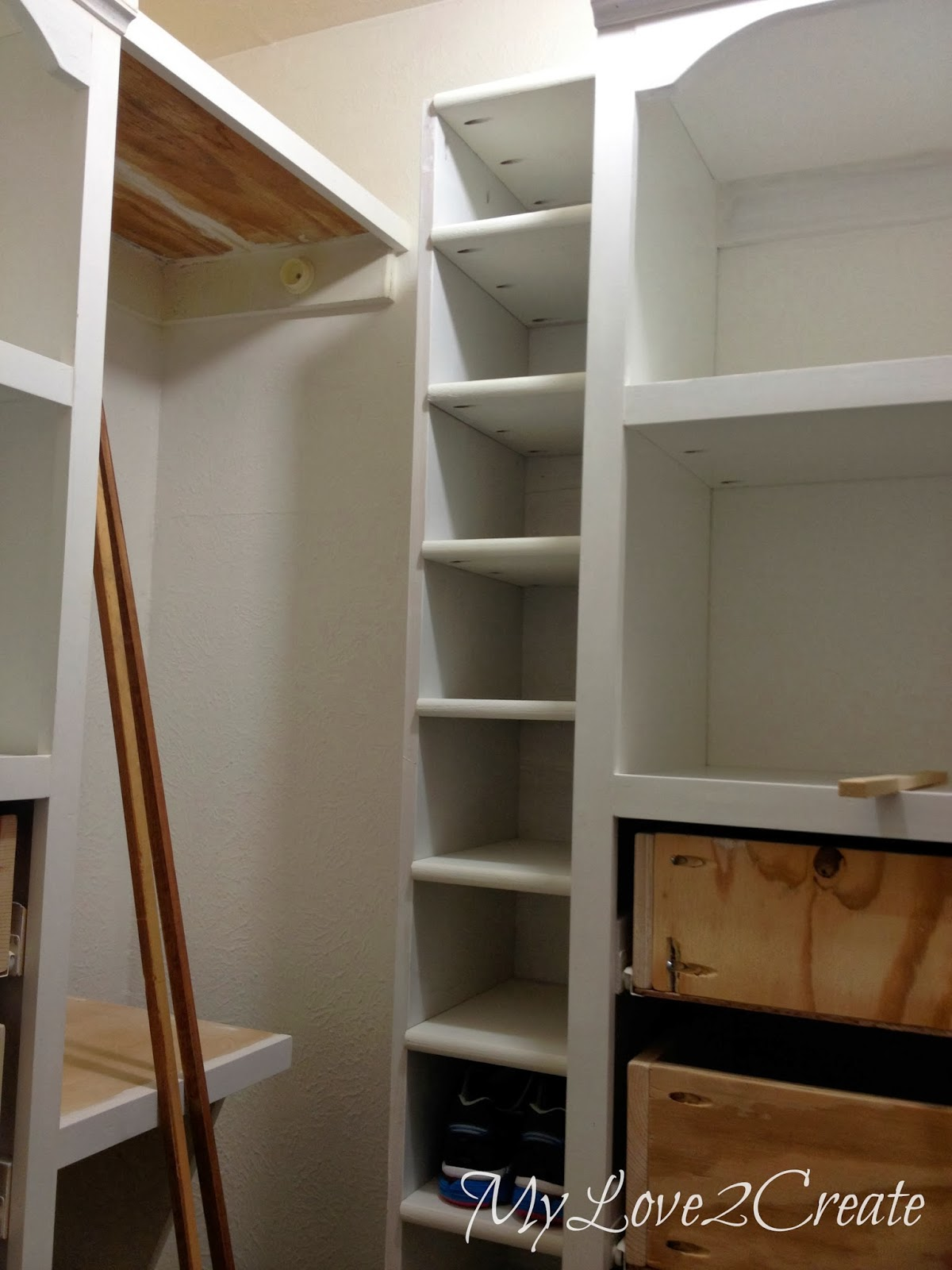 shoe shelf bench and floating shelves master closet makeover installed for storage love create wire wall book rack ikea hanging cube fold out white desk wooden organizer corner