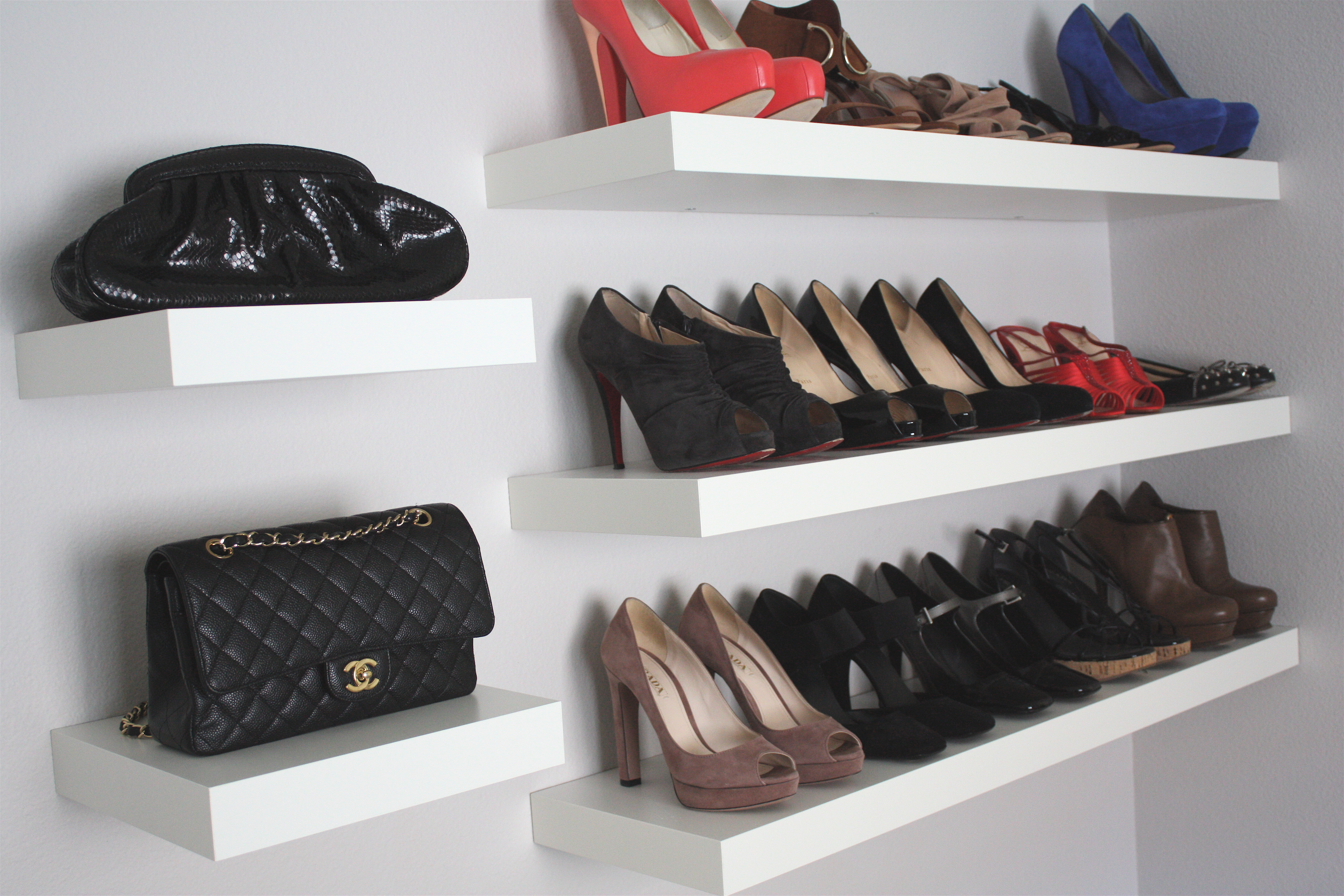 shoe wall shelves pmpresssecretariat floating shelf rack ysl page saveenlarge for shoes jessannkirbycom white kitchen without upper cabinets ikea mini adjustable closet storage