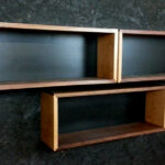single walnut and cherry floating wall box book case shelf mid etsy fullxfull wood hooks ikea besta bookcase metal hardware white plastic corner silver shelves bedroom hanging 150x150