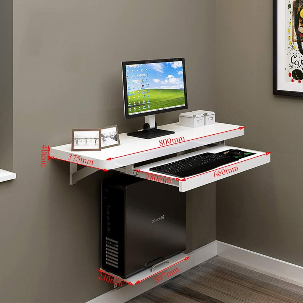 sjysxm floating shelf foldable laptop desk portable computer folding mdf stand table with main frame home kitchen custom shoe organizer hanging bathroom cabinet over toilet plano