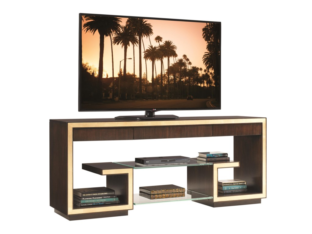 sligh bel aire rodeo media console with floating glass products color shelves for entertainment center and gold tipping marble brackets lights work shelving systems garage wall