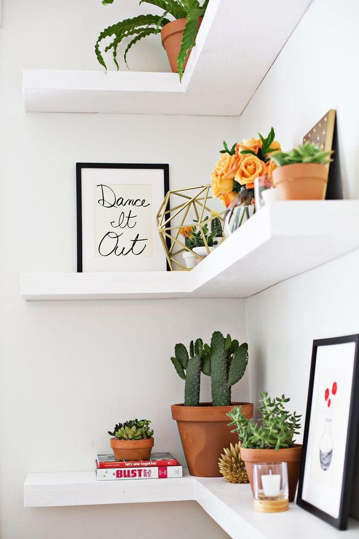 small scale decorating ideas for empty corner spaces home shelf mural floating some really nice here tidbits twine blog coin white canadian tire mini fridge installing self