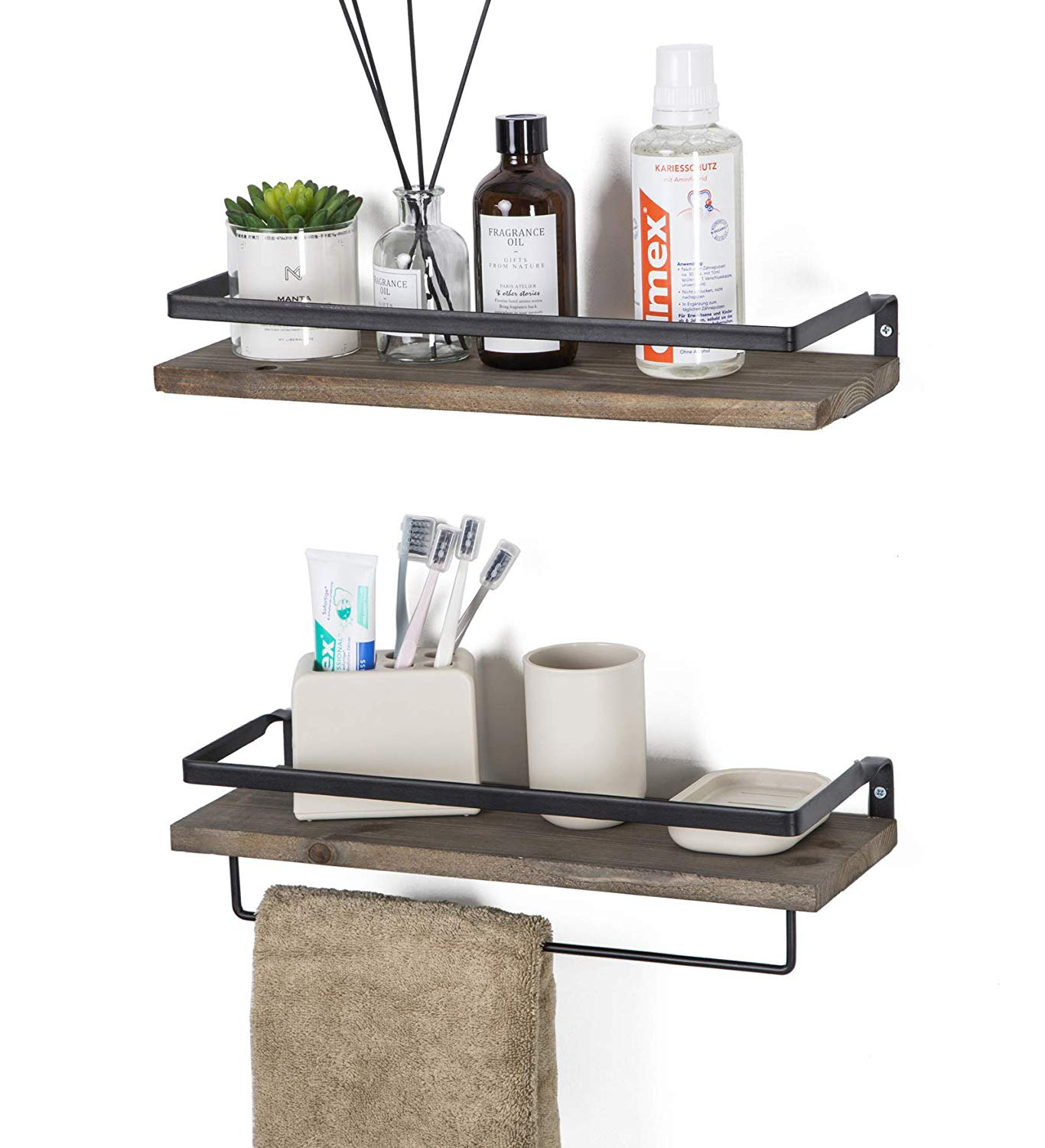 soduku floating shelves wall mounted storage for kitchen bathroom set brown home espresso entertainment stand small foot coat rack white bookcase with drawers heavy duty iron