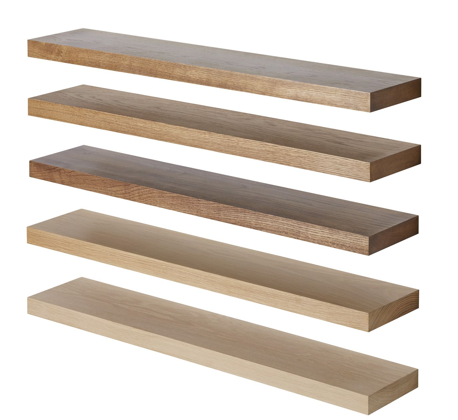 solid oak floating shelf custom made measure customise length apx deep shelves compact bathroom storage walnut contemporary white set threshold ture ledge clips and supports wall
