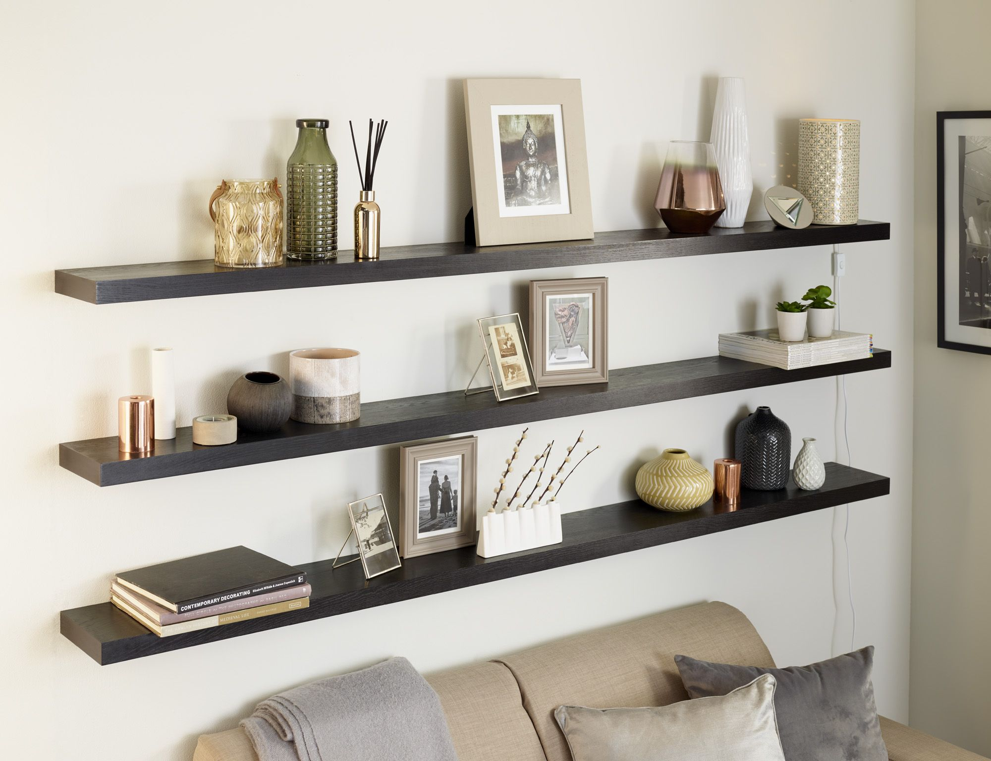 solid oak floating shelf custom made measure customise length depth thickness thick white shelves ikea shoe hanger and wood media console big garage storage solutions hanging