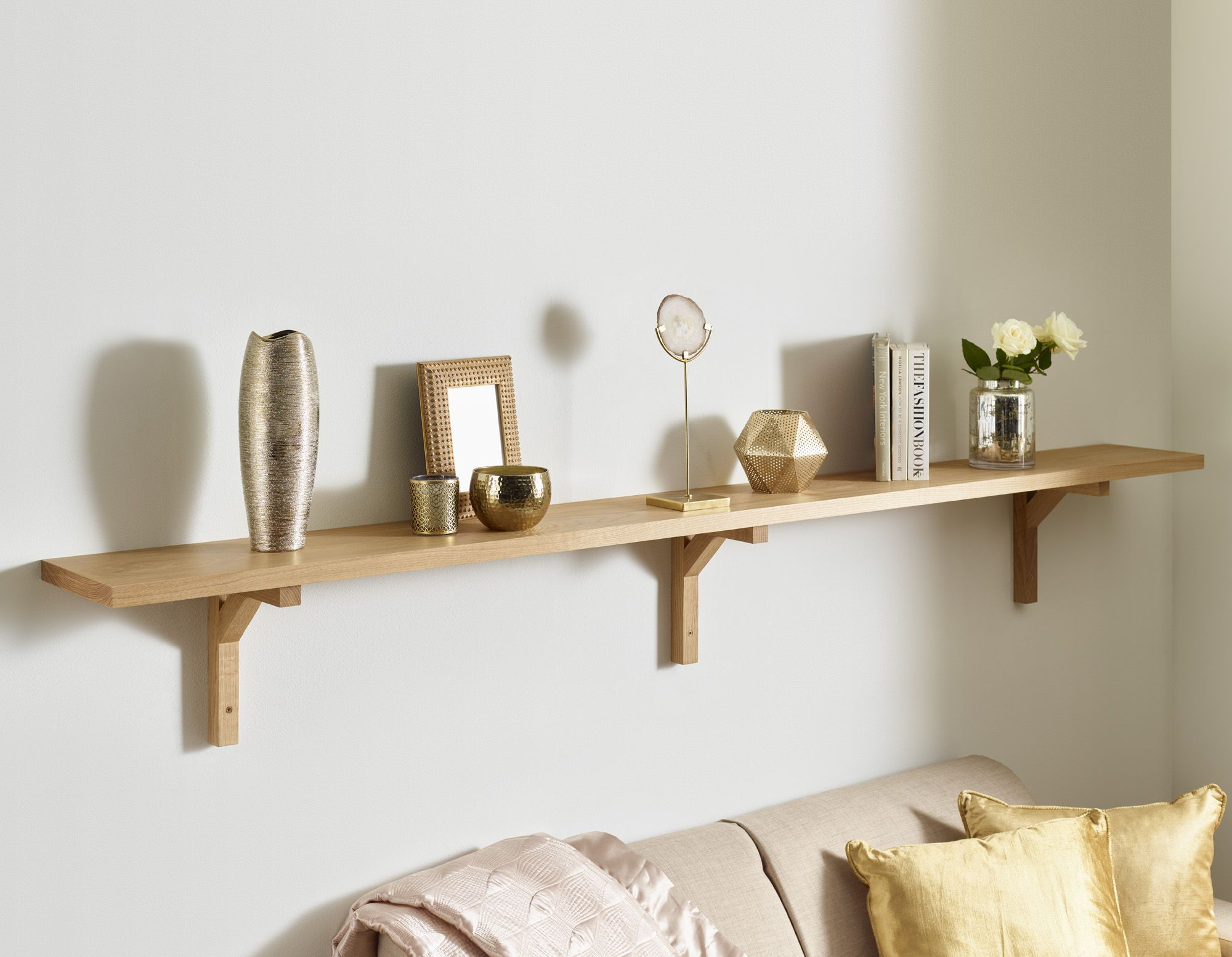 solid oak wall shelf modern brackets floating large wood bathroom shelves above toilet mounted hall stand mini corner easy shelving ideas diy shoe cabinet with doors decorative
