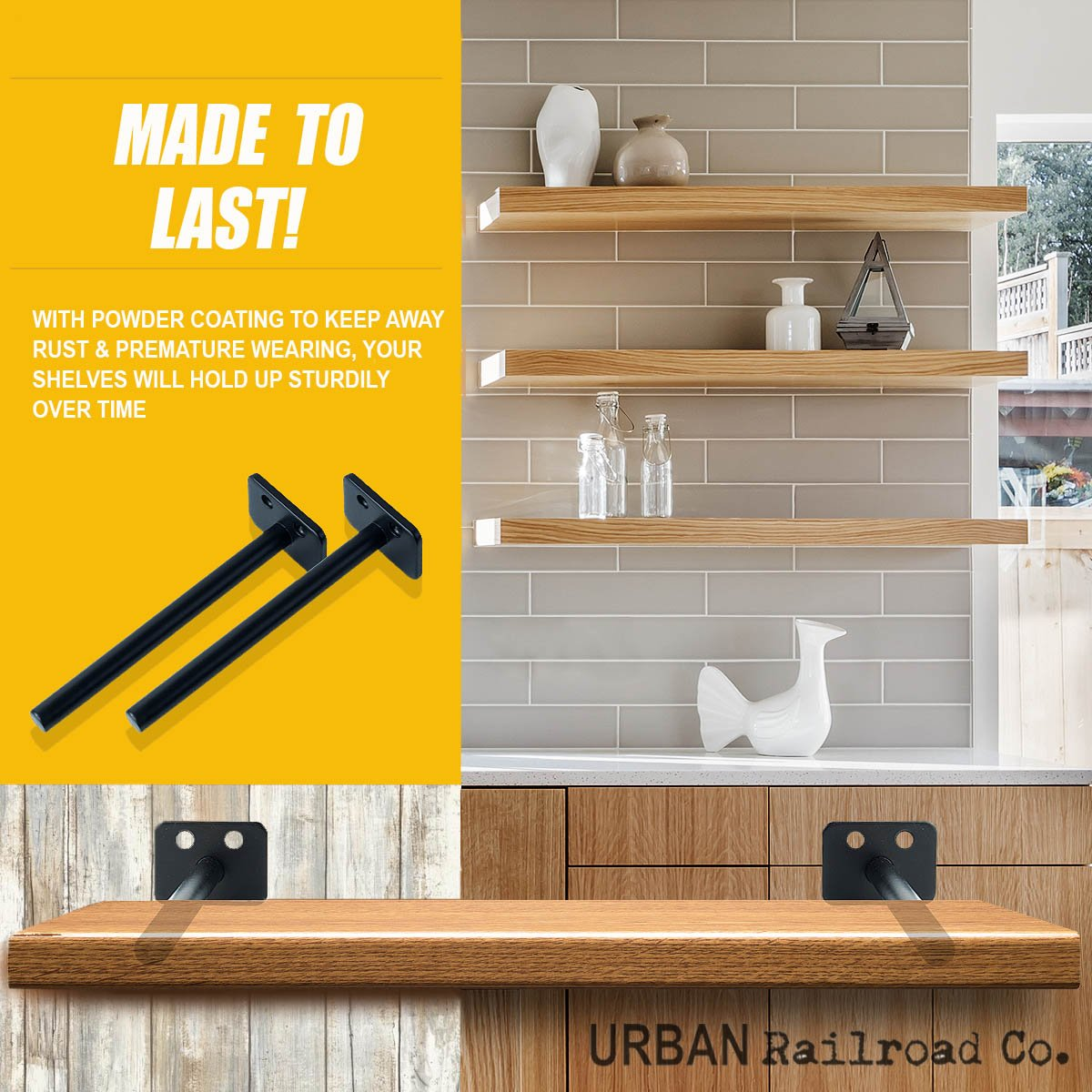 solid steel floating shelf brackets rod with post diameter powder coated finish rustproof blind supports flush fit subfloor for vinyl tile string shelving ikea closet drawers