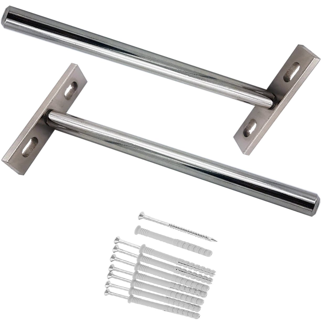 solid steel floating shelf brackets with screws and concealed support nickel plated flush fit blind invisible hanging fully concealable hidden shelves supports strong piece