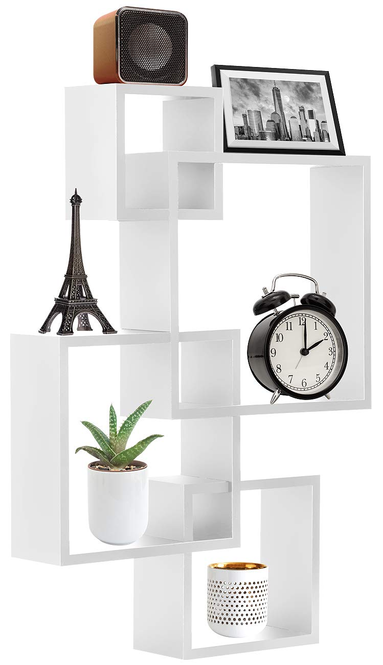 sorbus floating shelf square interlocking cubes with white openings decorative wall shelves hanging display for frames collectibles and home decor dvd player dresser unit heavy