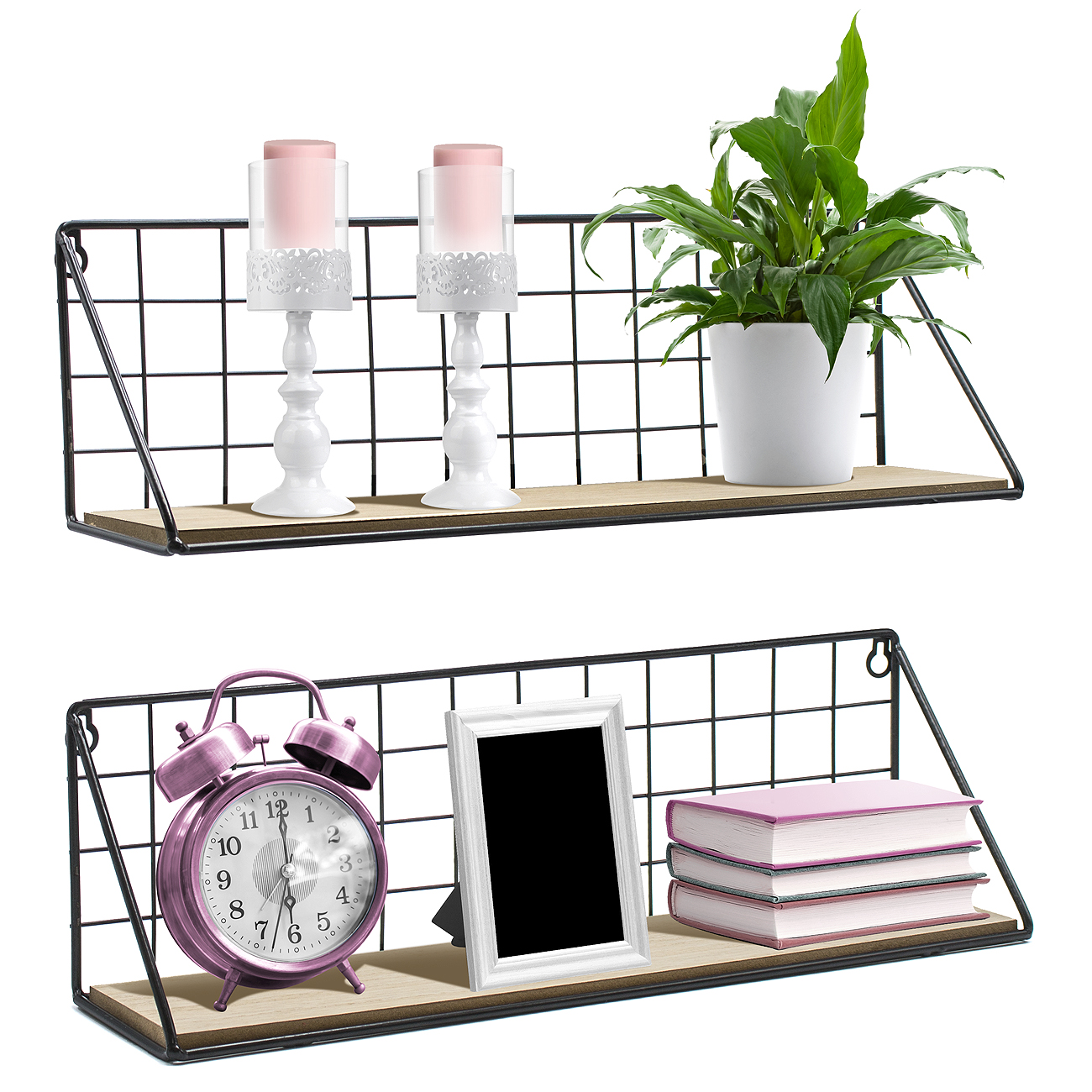 sorbus floating shelves wall mounted rustic wood storage set for and ture frames collectibles decorative items great living room office bedroom diy shelf projects pink corner home