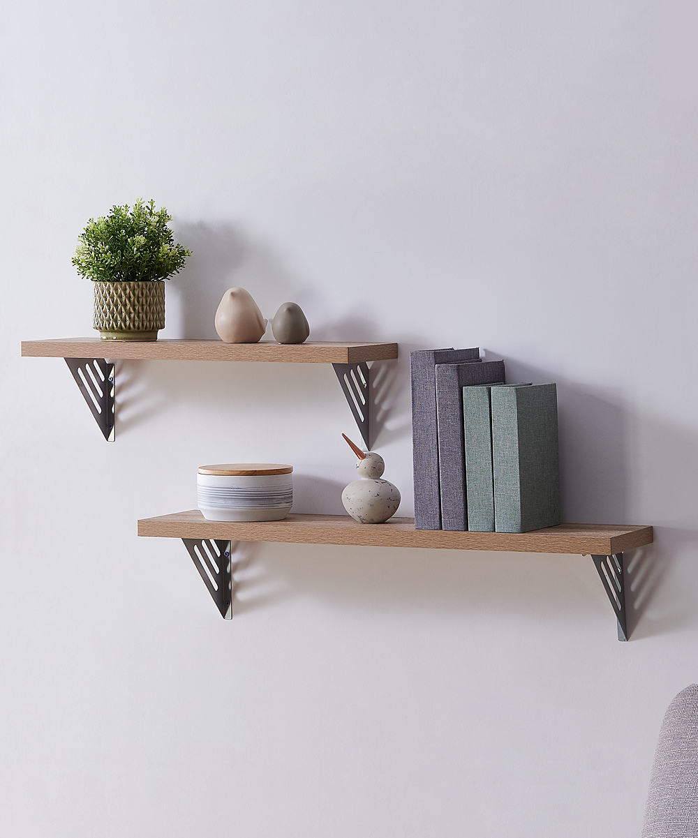 southern enterprises natural silver lestrom floating shelf set main shelves love this product two self adhesive underlay for solid wood flooring hidden mounting hardware under