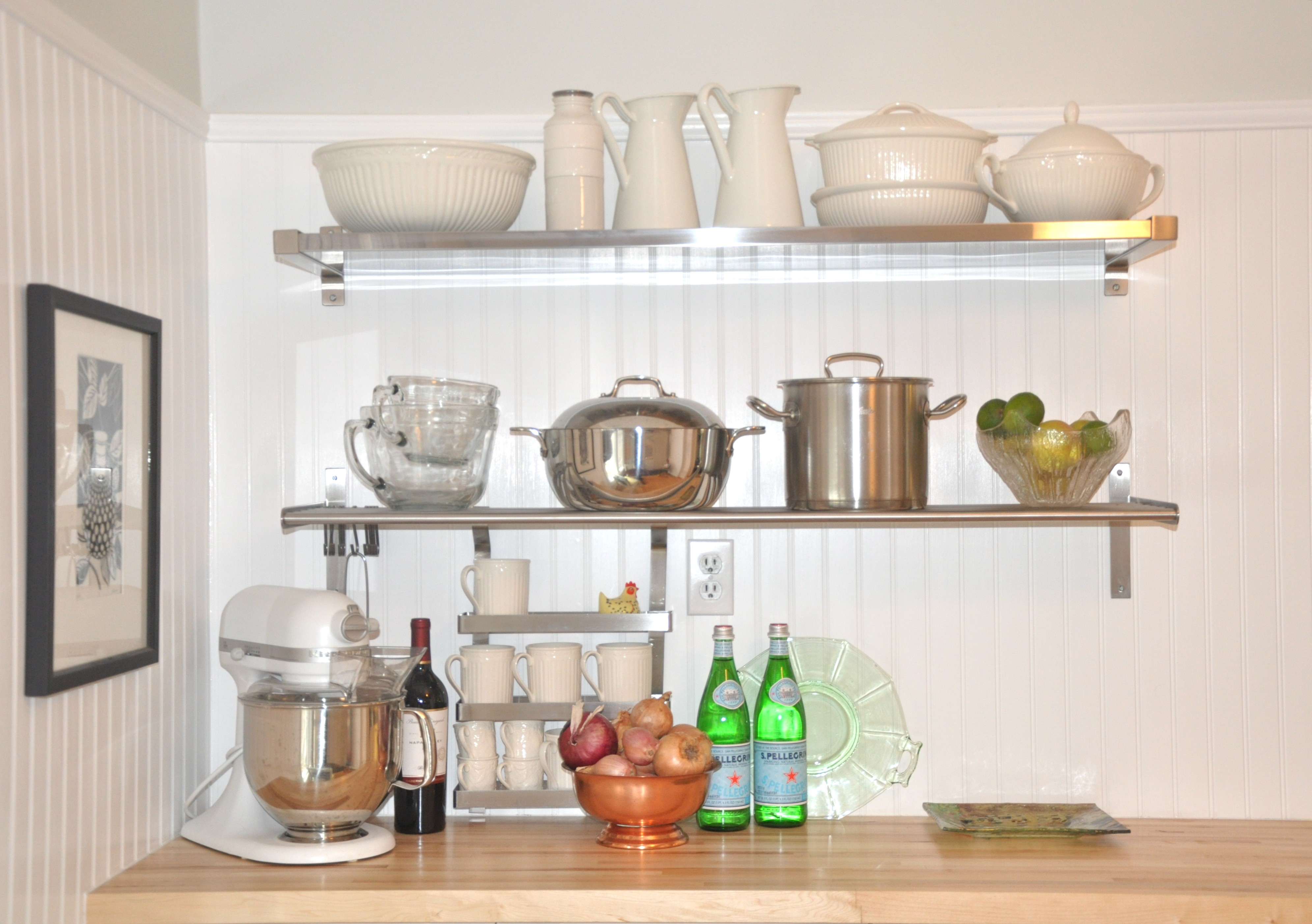 stainless steel floating shelf style meets function homesfeed unique interior design with idea above wooden top metal shelves for kitchen garage workbench and cabinets chrome