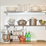 stainless steel floating shelf style meets function homesfeed unique interior design with idea above wooden top shelves kitchen ikea french cleat tool holders pine wood industrial 150x150