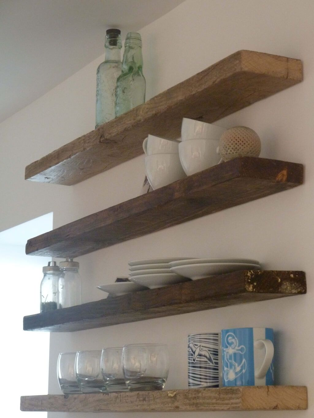storage organization decorative rustic floating shelf with thick shelves for kitchen wooden brackets wood unique wall diy bedroom garage closets entertainment stand drawer metal