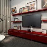 striking home media setup combining the shadowline floating shelf entertainment unit with matching shelves scarlet storage and shelving units ikea bookcase desk standard kitchen 150x150