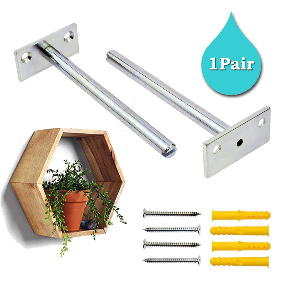 stritra floating shelf brackets concealed mount support hidden invisible blind supports for home wall diy wood shelves hardware included pair battery powered night light antique