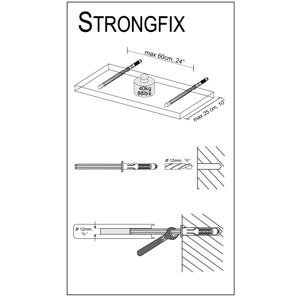 strongfix floating shelf bracket bluestoneshelves installation diagram best brackets dolle cabinet shelving ideas inch wide unit heavy duty garage storage shelves funky bedroom