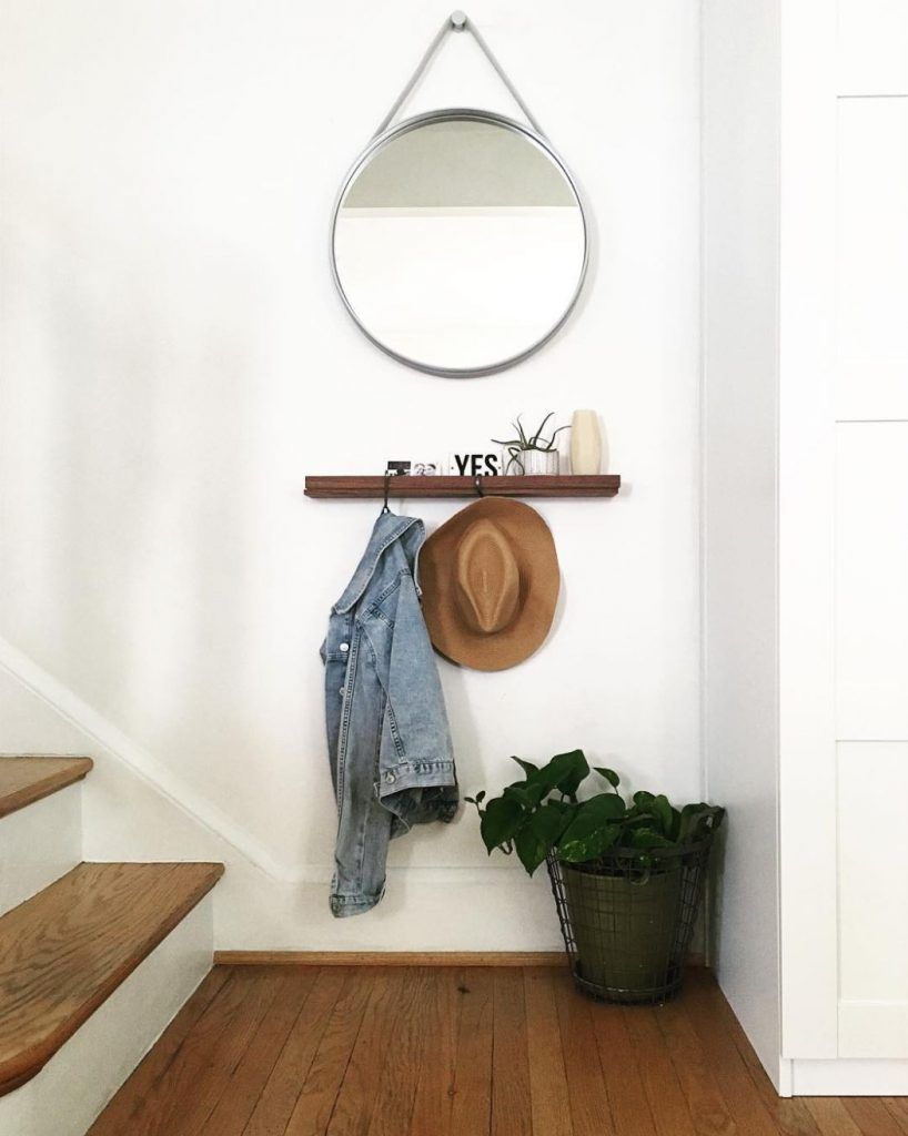 stylish entryway ideas you want steal beautiful home floating shelf with bench fake and few hooks diy float rooms command shower satellite box wall inch hanging stuff drywall