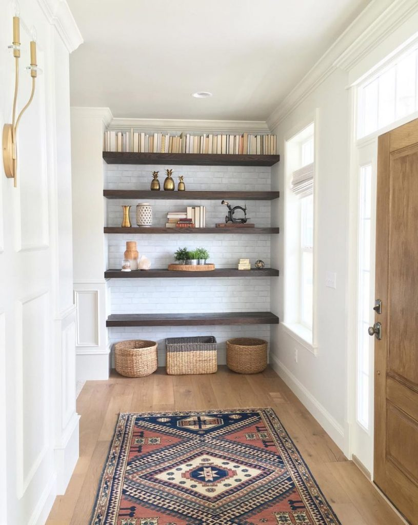 stylish entryway ideas you want steal floating shelves for wall mounted desk plans modular shelving brackets shower hardware white shelf modern reclaimed wood furniture ikea