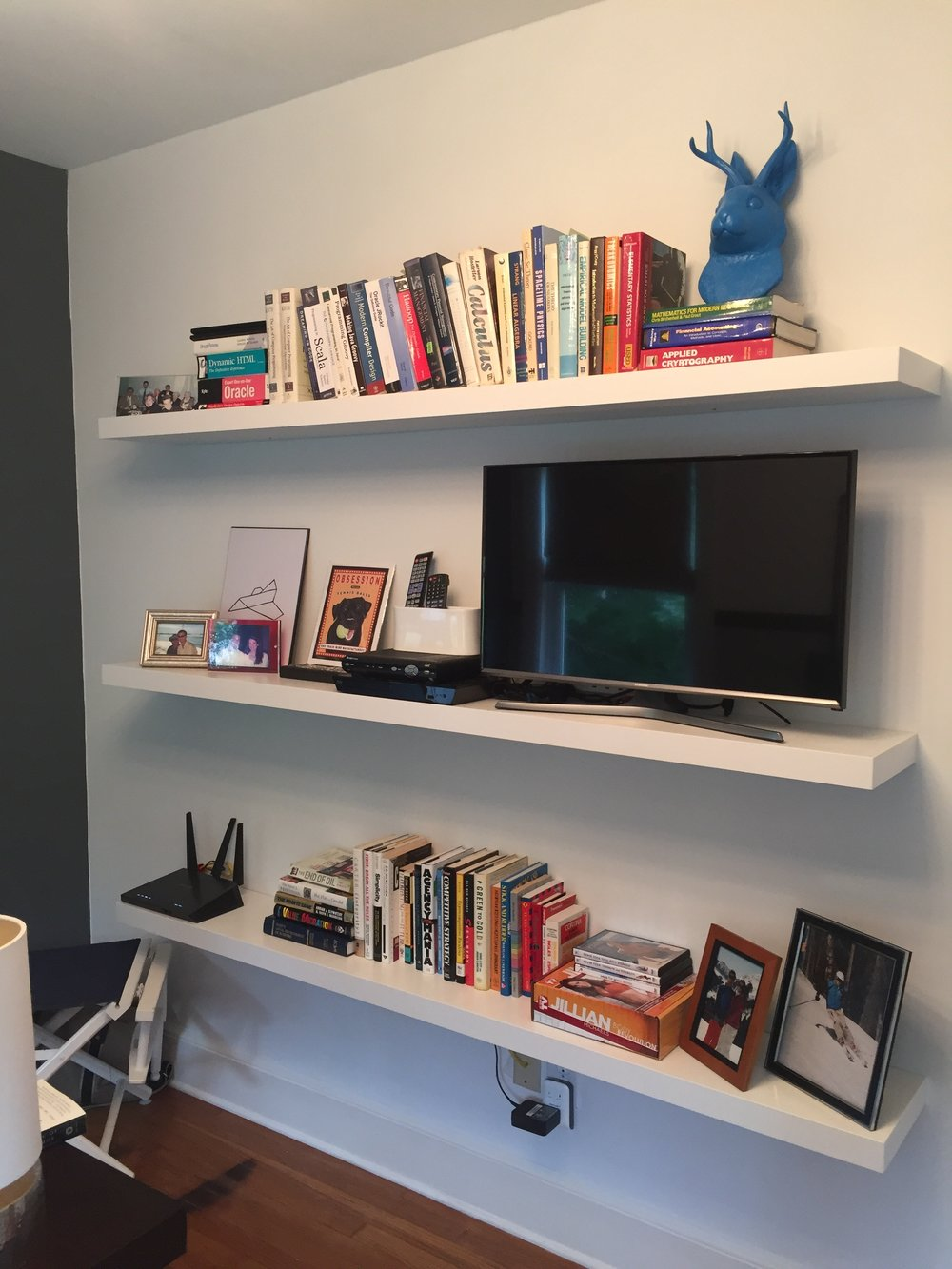 the best floating shelf rebecca lynne thorburn img shelves for books our previous house used five white vertical storage office supplies mementos etc computer table with bookshelf
