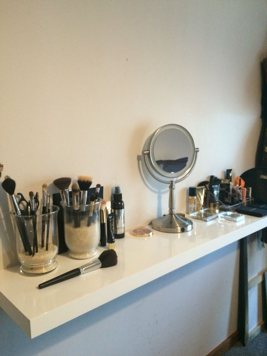 the start makeup vanity area floating shelf from bunnings easy very small bathroom storage ideas built wall desk pipe hardware hang frames without holes shelving and hanging